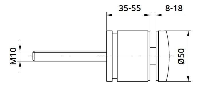 Conector sticla reglabil Ø50x35-55 mm [1]