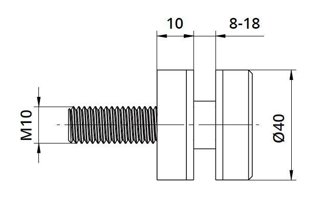 Conector sticla Ø40x10 mm 1