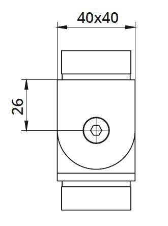 Imbinare variabila ±90° mana curenta patrata 40x40 mm 1