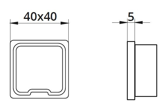 Capac capat mana curenta patrata 40x40 mm 1