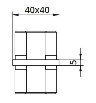 Imbinare 180° mana curenta patrata 40x40 mm [1]