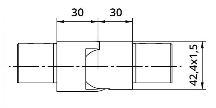 Imbinare variabila in coborare 25°-55° mana curenta profilata Ø42,4 mm 1