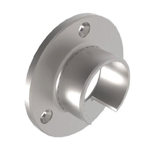 Conector perete mana curenta profilata Ø42,4 mm [0]