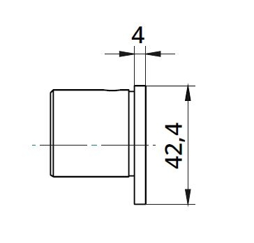 Capac capat mana curenta profilata Ø42,4 mm 1