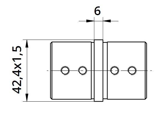 Imbinare 180° mana curenta profilata Ø42,4 mm 1
