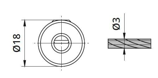 Piesa blocare cablu Ø3 mm pentru montant balustrada [1]
