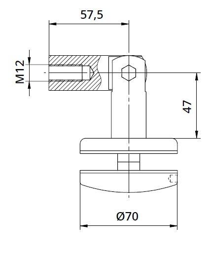 Conector copertina tija/sticla 8-17,52 mm 1