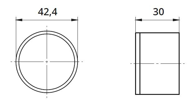 Capac capat mana curenta din lemn Ø42,4 mm 1