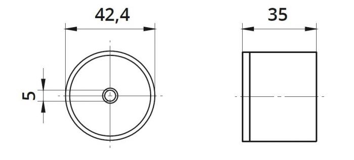 Conector mana curenta din lemn Ø42,4 mm 1