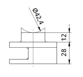 Clema simpla Ø60x28 mm fixare pe teava rotunda [1]