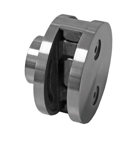 Clema dubla Ø60x28 mm fixare pe teava rectangulara 0