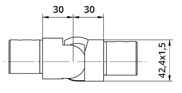Imbinare variabila in urcare 25°-55° mana curenta profilata Ø42,4 mm 1