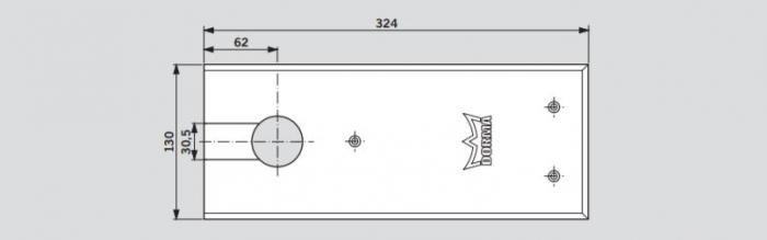Amortizor pardoseala Dorma BTS 84 EN 3 cu placa si insert standard/blocaj la 90º 2
