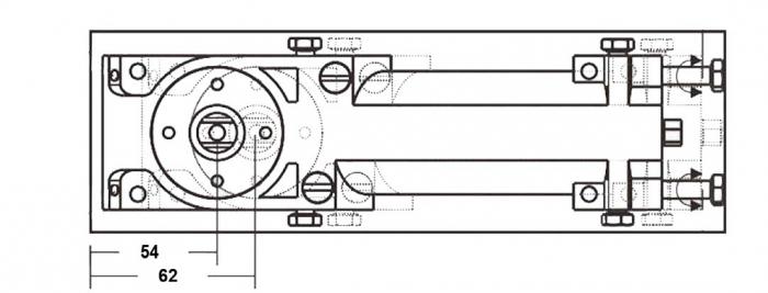 Amortizor pardoseala deschidere max 180° EN 1-4 8460 V 2
