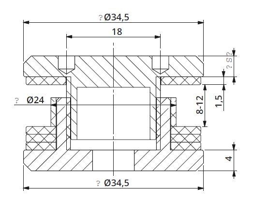 Conector simetric reglabil sticla 8-12 mm 1