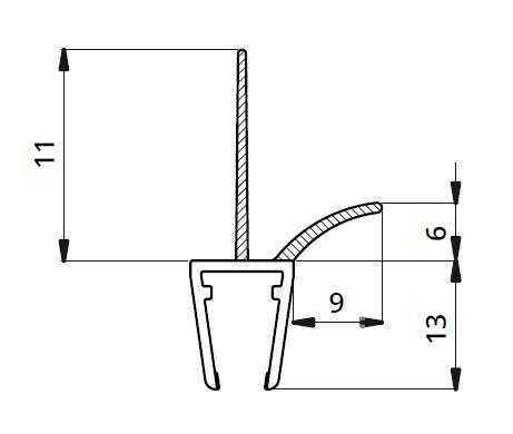 Garnitura ultraclara cu banda pe mijloc 11 mm cabina dus sticla 8 mm 1