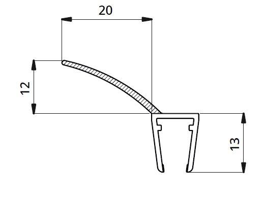 Garnitura ultraclara cu banda flexibila cabina dus sticla 8 mm 1