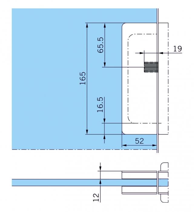 Contraplaca sticla GK 50 - pentru US 20 - Dorma Mundus Comfort 2