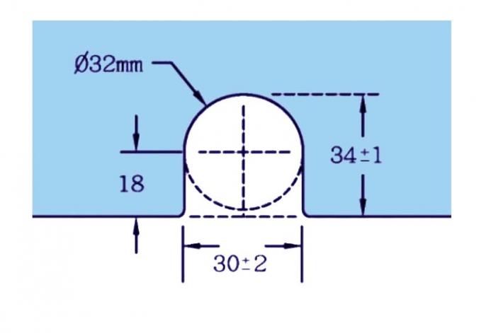 Contraplaca sticla GL 52/K pentru zavor inferior/superior cu buton GL 52 1