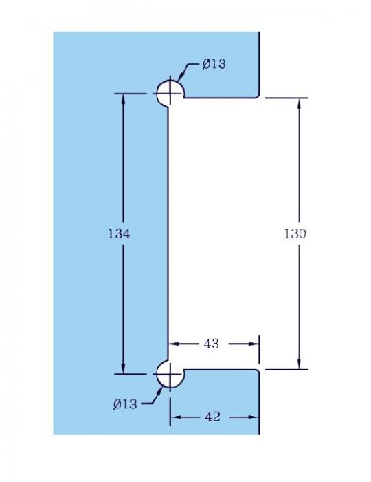Contraplaca sticla GL 53/K pentru incuietoare de centru GL 53 1