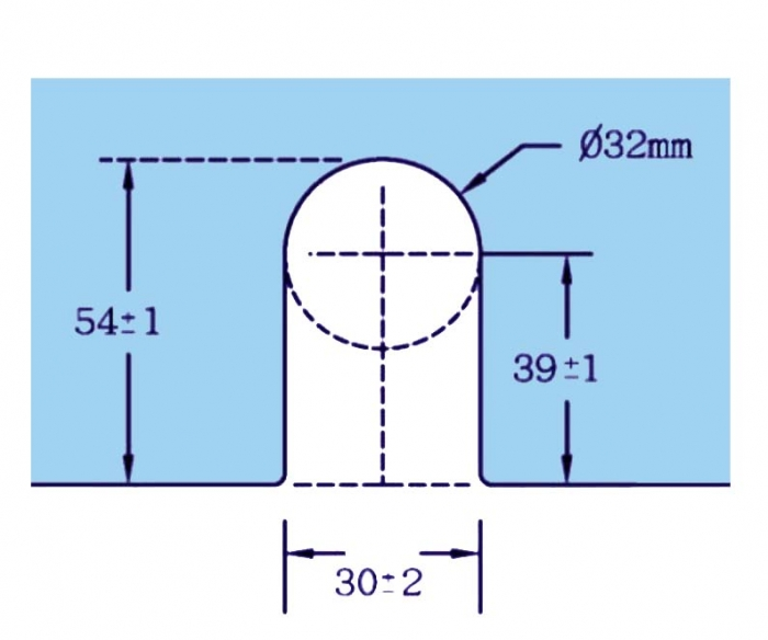 Zavor inferior/superior cu buton GL 52 2