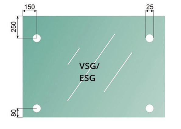 Set copertina cu tirant sticla 8-17,52 mm [1]