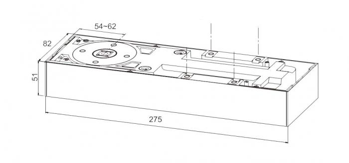 Amortizor pardoseala blocare la 90° EN 1-4 GTS 750 V 1