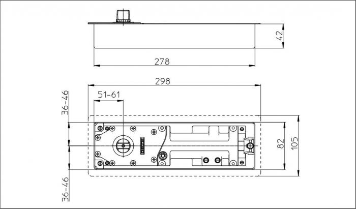 Amortizor pardoseala TS 500 NV cu blocare la 85° EN 1-4 1