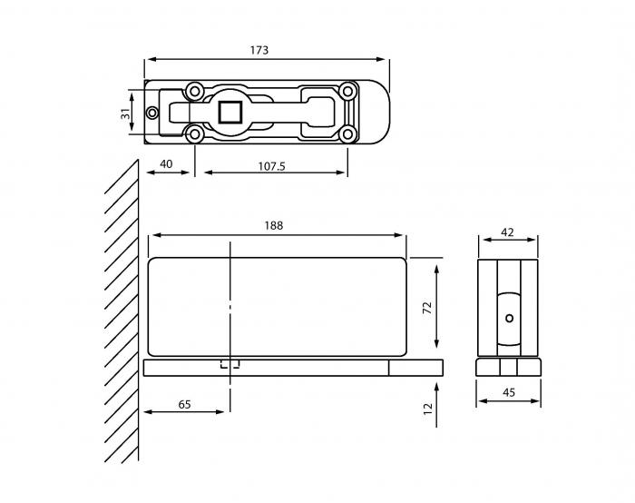 Balama pardoseala cu amortizor incorporat HGT 100 1