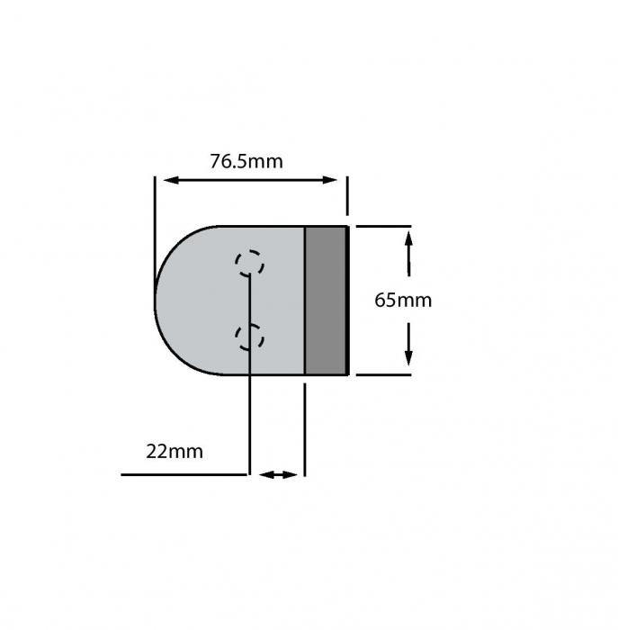 Contrabroasca ovala usa sticla 8-10 mm 1