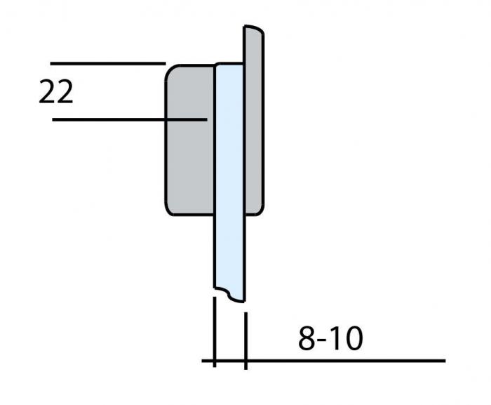 Contrabroasca ovala usa sticla 8-10 mm 2