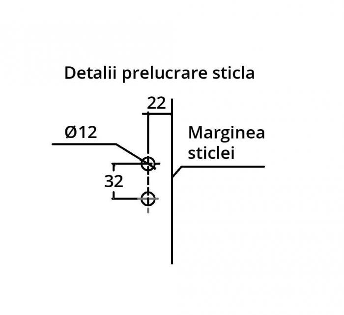 Contrabroasca ovala usa sticla 8-10 mm 3