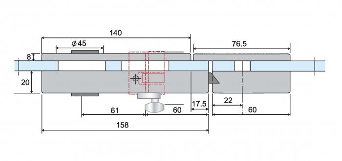 Contrabroasca ovala usa sticla 8-10 mm 4