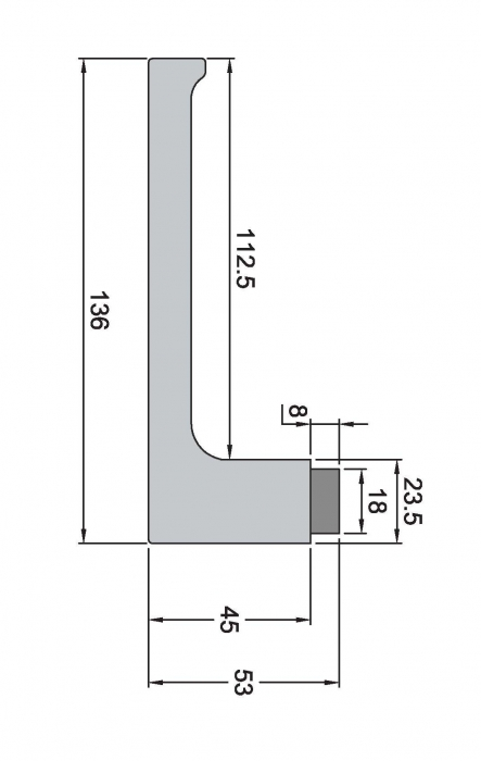 Maner rectangular usa sticla 1