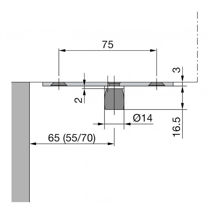 Pivot superior PT 24 - Dorma Mundus Comfort 1