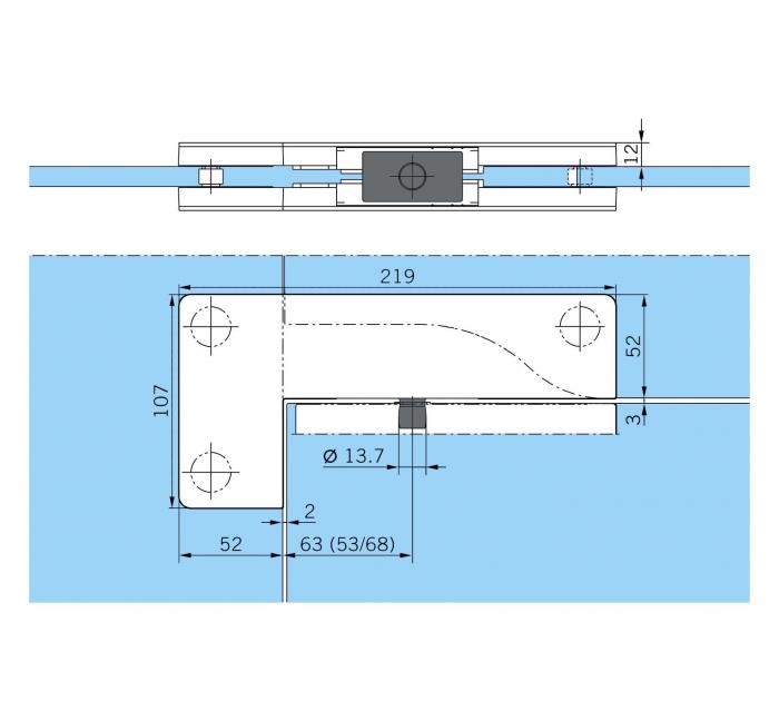 Balama coltar supralumina PT 40 - Dorma Mundus Comfort 1
