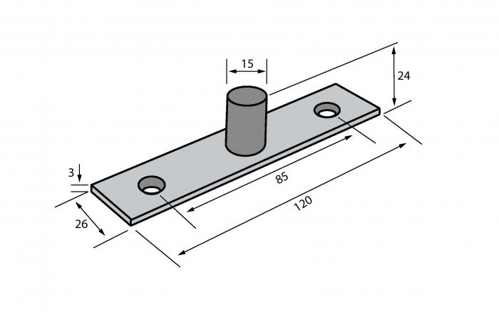 Pivot superior - Railing Design 1