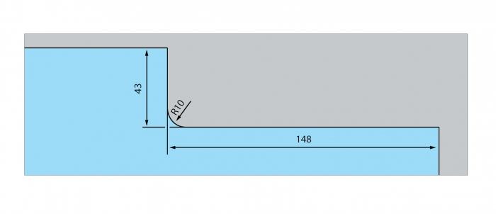 Incuietoare de colt (pardoseala) US 10 - Dorma Mundus Comfort 2