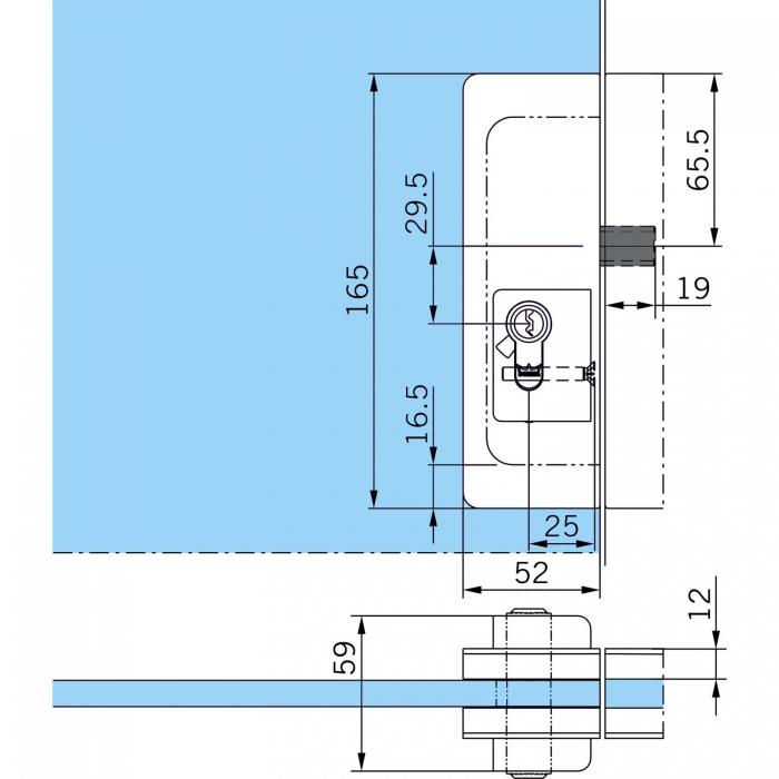 Incuietoare de centru US 20 - Dorma Mundus Comfort 3
