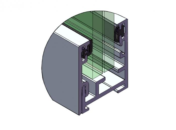 Profil perimetral partitie simpla 1