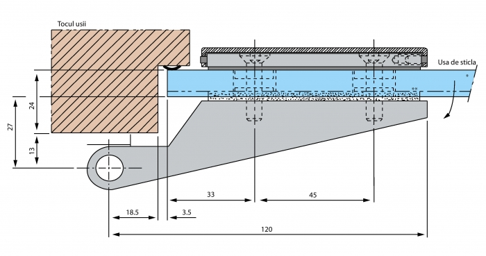 Balama aplicata usa sticla 8-10 mm 3