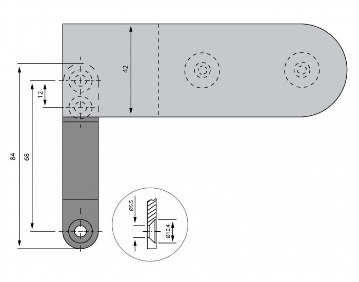 Balama aplicata usa sticla 8-10 mm 1