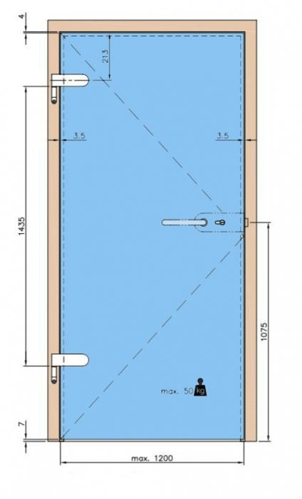 Balama aplicata usa sticla 8-10 mm 6
