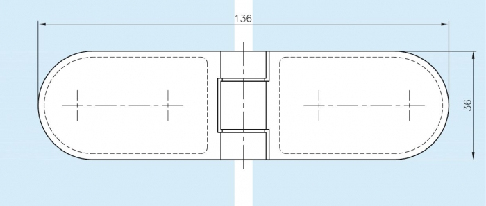 Balama cabina dus sticla/sticla 180° 1