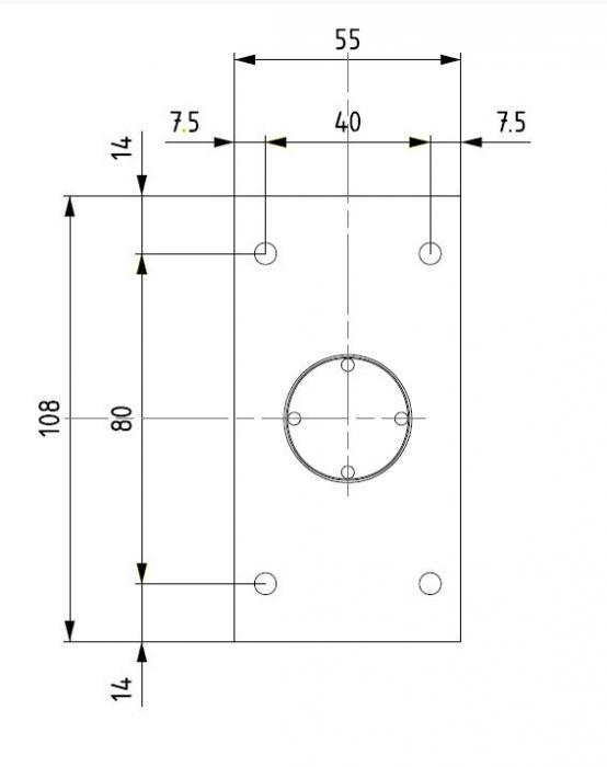 Balama hidraulica Biloba cu amortizare incorporata perete/sticla 3
