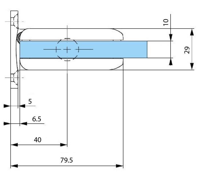 Balama hidraulica Biloba cu amortizare incorporata perete/sticla 2