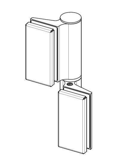 Balama hidraulica Biloba EVO cu blocare 90°/180° fixare pe sticla 1