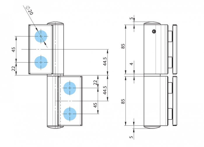 Balama hidraulica Biloba EVO SOL fara blocare fixare pe sticla 2