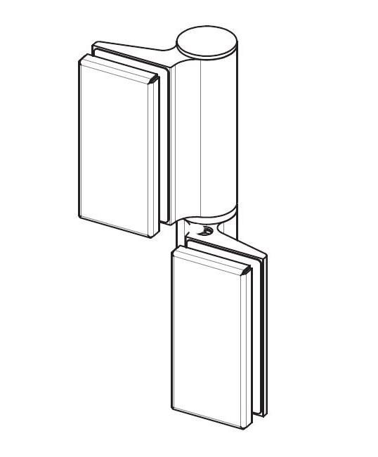 Balama hidraulica Biloba EVO SOL fara blocare fixare pe sticla 1