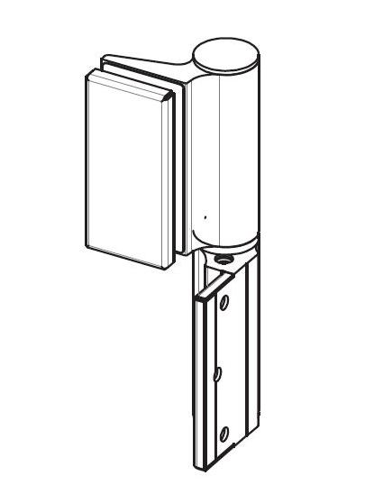 Balama hidraulica Biloba EVO cu blocare 90°/180° fixare pe perete 1